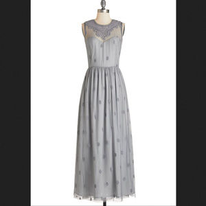 Modcloth Ethereal Girl Dress Maxi in Grey